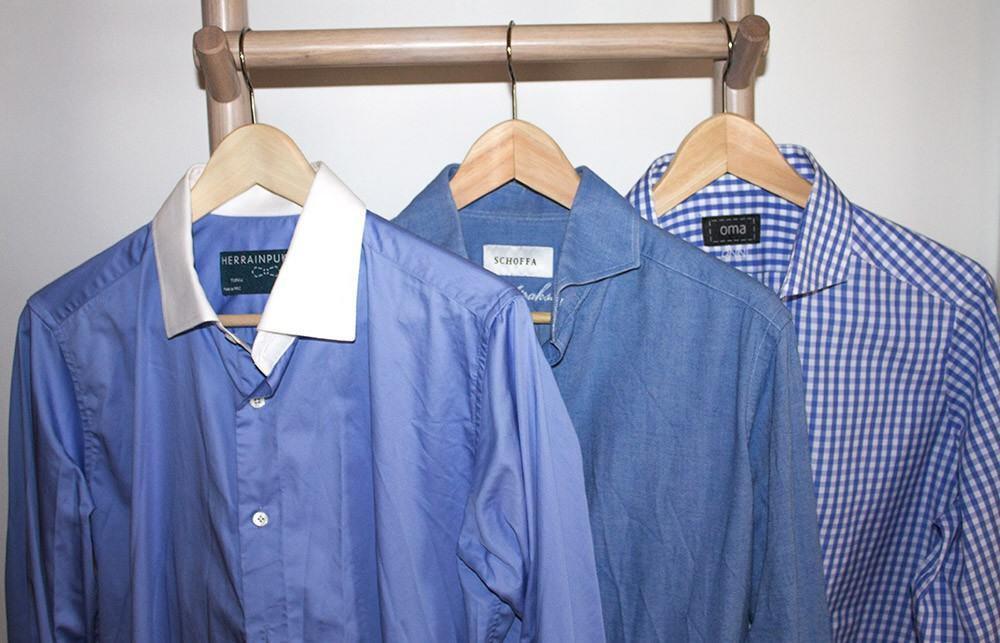Mittapaita täyttää niin formaalit, kuin vapaa-ajan tarpeet. Herrainpukimon pankkiirikauluspaita sopii virallisempaan menoon, Schoffan chambray-kankainen kauluspaita menee työ- ja vapaa-ajan pukeutumisessa, sekä OmaLinen ruudullinen kauluspaita vapaamuotoisempaan pukeutumiseen.