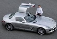 Mercedes-Benz SLS AMG ja Bernd Schneider.