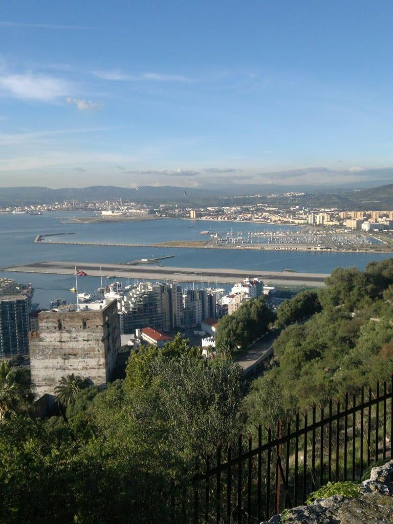 Costa del Sol - Gibraltar - Moorish Castle - Union Jack