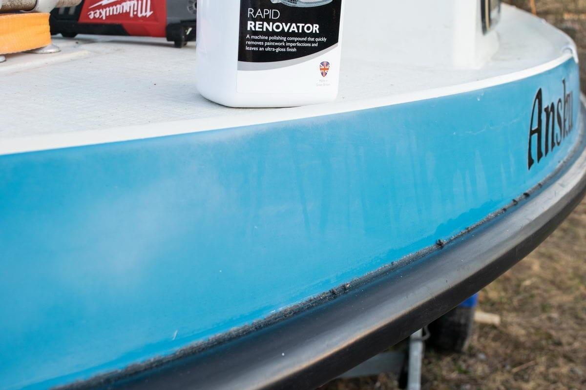 Bella 660 ennen Autoglym Rapid Renovator -käsittelyä