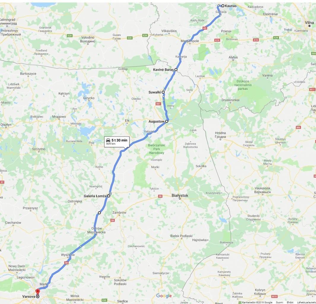 Jokamies Itäblokki - Augustow - kartta