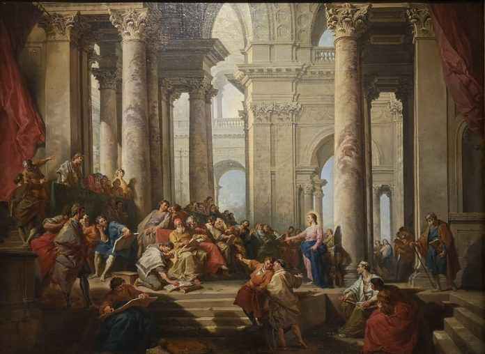 Jokamies-Itäblokki-Teslalla-Giovanni-Paolo-Pannini-Grandeur-of-the-Temple